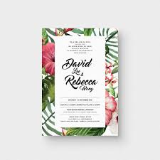 Wedding Invitation Cards With Photos Tropical Love I Invitation Card The Paperpapers Wedding