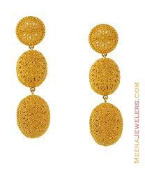 kerala earrings gold earrings gold filigree earrings g o l d