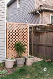 House Of Trelli Build A Simple Diy Trellis Screen To Hide Ugly Areas In Your Backyard