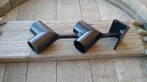 double rod corner bracket wood pole or iron bracket 1 each