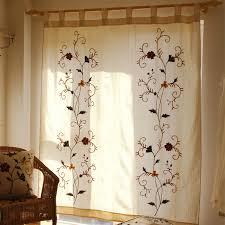 Country Porch Curtains Country Porch Curtains Floral Pattern Linen Cotton Blend