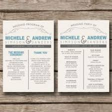 country wedding programs wedding program right on trend with 2012 architectural type