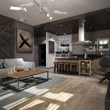 interior cool studio apartment setups with striking studio