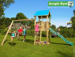 jungle gym castle with slide and additional module children