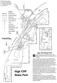 high cliff state park map rock climbing routes photos in high cliff state park