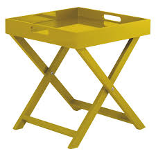 Folding Side Table Oken Yellow Folding Side Table With Removable Tray Top Buy Now