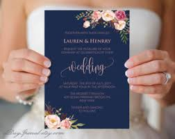 set of 4 printable double sided wedding invitation cards gold
