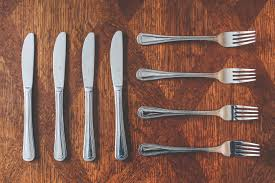 cutlery knives and forks free stock photo
