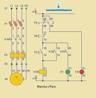 three phase contactor wiring diagram electricos pinterest