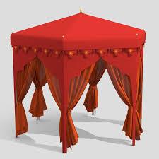arabian tents tent 3d model