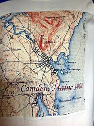 map of camden maine camden maine 1906 topographic map shirt topotees wear the