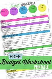How To Set Up A Monthly Budget Spreadsheet Family Budget Worksheet A Mom U0027s Take