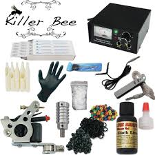 tattoo kit without machine killer bee beginner tattoo starter kit machine needle gun equipment