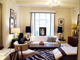 rece apartment living room decor white fabric sofa black wood