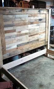 wood king size headboard rustic king size pallet headboard