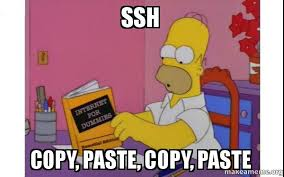 Meme Copy And Paste - ssh copy paste copy paste computer homer make a meme