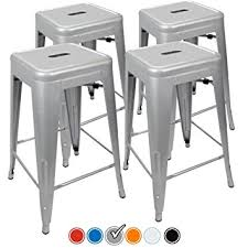 Amazoncom  Counter Height Bar Stools SILVER By UrbanMod - Hyland counter height dining room table with 4 24 barstools