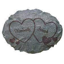 personal creations personalized two hearts garden stone 7447556