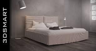 photorealistic bonaldo toolate bed 3d model in bedroom 3dexport