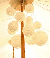 Paper Lantern Chandelier Paper Lantern Chandeliers Hang Black And White Ones In Grouping