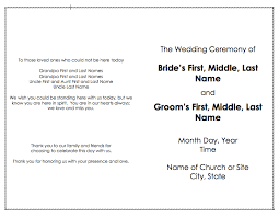 how to write a wedding program wedding program template word templates diy wedding 28215
