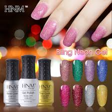 aliexpress com buy hnm 8ml 22 glitter colors uv gel nail polish