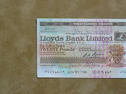 travellers check images Lloyds bank travellers cheque i collect banking related it flickr jpg