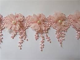 pearl lace 1 yard 3d flower tassel fringe pearl lace edge trim ribbon 9 cm