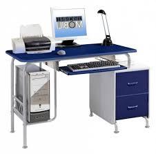 Contemporary Computer Desk Blue Computer Desk Glass Chair Workstation Esnjlaw Com
