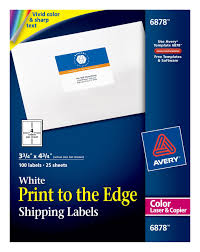 avery shipping labels permanent adhesive 100 labels 6878 avery com