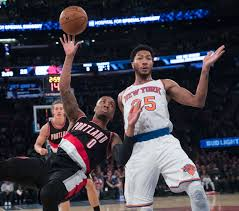 porzingis rose help knicks edge blazers 107 103 boston herald