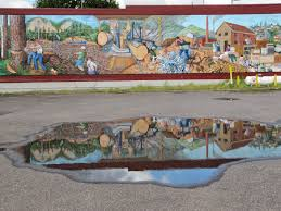 destinations northwest the many murals of estacada on weekends city dwellers rode the electric streetcar out to estacada or further along the route to cazadero for an enjoyable day of picnics fishing