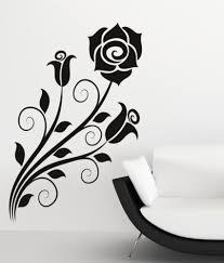 flower wall art stickers custom wall stickers destudio rose flower wall art stickers and wall decal