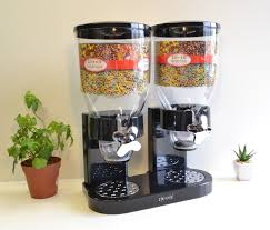 wall mounted dry food dispenser alphaespace inc rakuten global market zevro triple canister