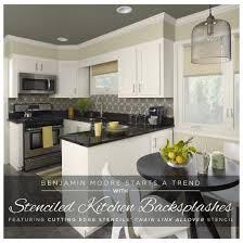 kitchen stencils designs 18 best stenciled kitchens images on pinterest cutting edge