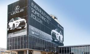 lexus canada marketing manager idea to wrap edmonton airport tower pitched to several automakers