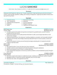 supervisor resume exles supervisor resume template vasgroup co