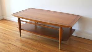 mid century modern tiled coffee table by lane picked vintage