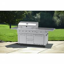 kenmore 5 burner island gas grill with refrigerator shop your