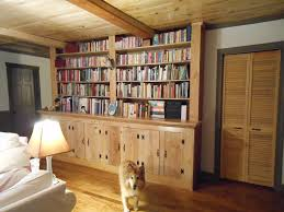 furniture home make wooden book shelf combined green painted wall