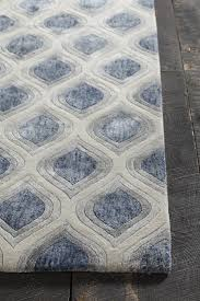 Blue Grey Area Rugs Clara Collection Tufted Area Rug In Blue Grey White
