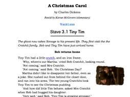 a carol stave 3 3 1 tiny tim worksheet with audio