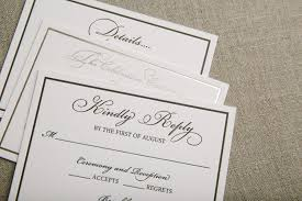 Formal Wedding Invitations Formal Wedding Invitations In Gold Foil And Classic Black