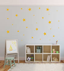 star wall decals nursery decal decor yellow star wall decals nursery decal decor yellow set half price sale