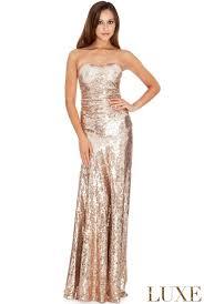 goddiva dresses goddiva womens strapless sequin maxi dress chagne