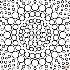 mandalas with circles coloring page free printable coloring