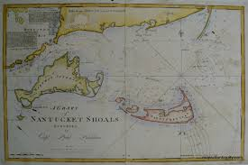 Nantucket Map A Chart Of Nantucket Shoals Antique Maps And Charts U2013 Original