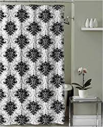 Black And White Damask Curtain Amazon Com Mainstays Classic Noir 70 X 72 Shower Curtain Black