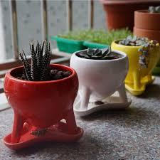 aliexpress com buy ceramic flower pots with three foot cute