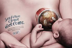 ad campaign shames junk food while breastfeeding